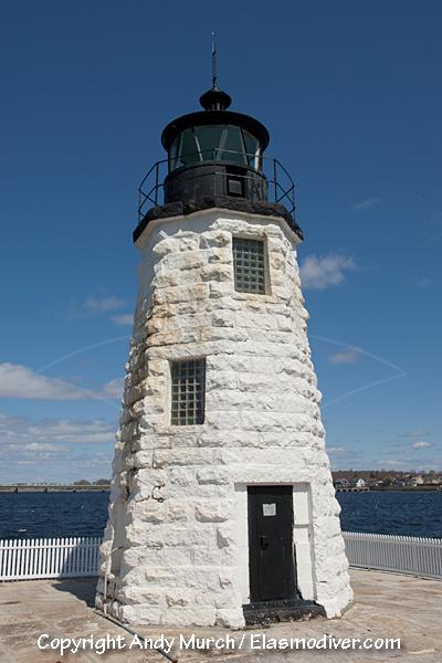 Goat Island Lighthouse, Newport RI   Lighthouse, Walk in ...  Goat Island Lighthouse